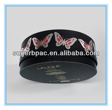 rigid creative coated paper wholesale hat boxes with butterfly image
