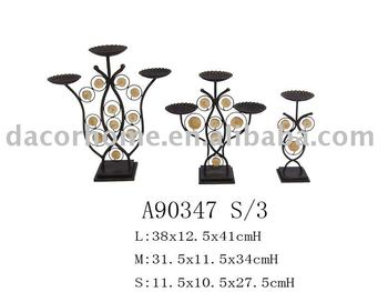 Metal Branched Candle HolderSet of 3