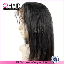 6A natural color dyeable long lasting full lace long straight wig