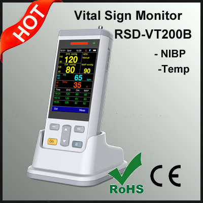 2017 Handheld vital Sign Monitor with SPO2 ,NIBP,Temp