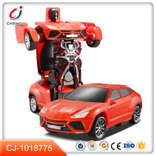 Wholesale toy gift 2.4GH transformation one key robot car