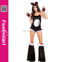 2014 Newest Wholesale 4 Pieces Hot Furry Animal Costume