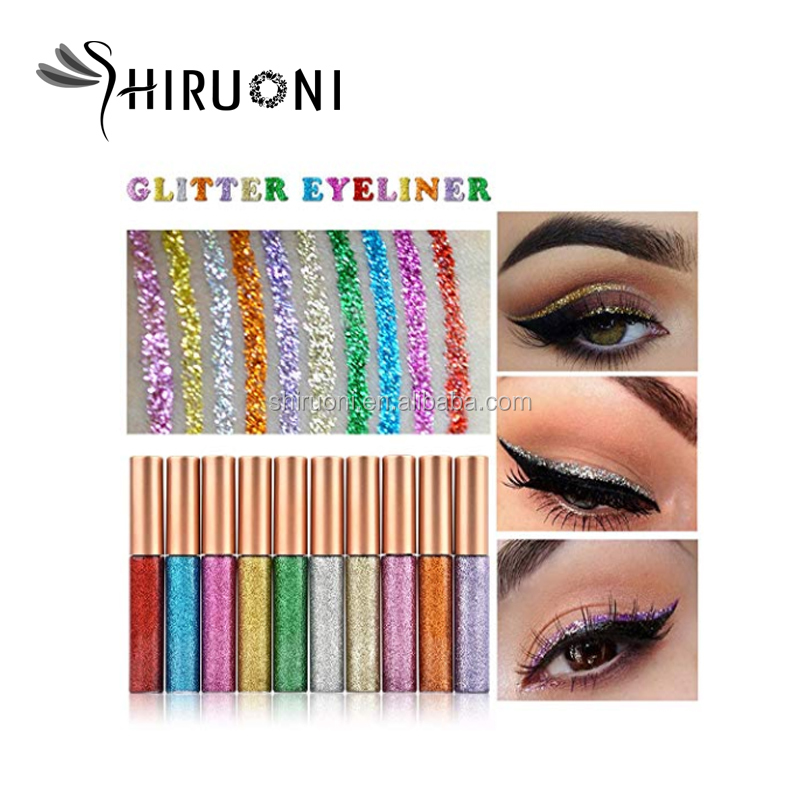 Professioneller Hersteller Waterproof Glitter Liquid Eyeshadow Private Label