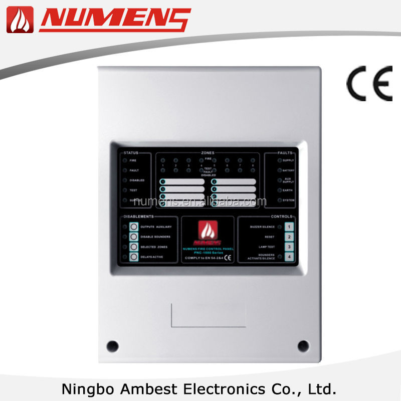 8 Zone Conventional Fire Detection Control Panel