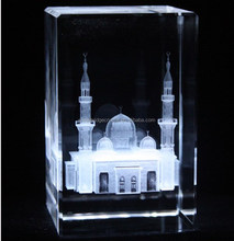 Custom 3D laser crystal mosque model