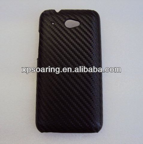 mobile phone fiber carbon cover case for htc desire 601