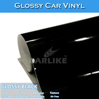 CARLIKE Air Bubble Free High Quality Black Car Film Glossy Car Vinyl Wrap