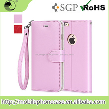 PU Leather Flip Phone Case With Strap Card Slots For iPhone 6 Plus 5.5