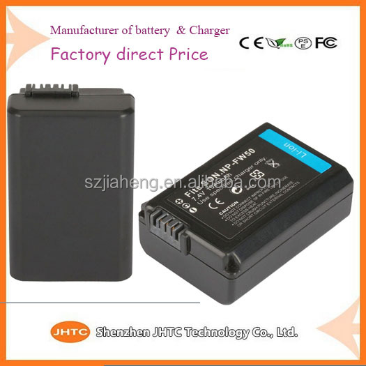NP-FW50 lithium ion JHTC digital battery for Sony NEX-F3 NEX-6 NEX-5R NEX-5T
