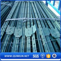 Field Fence High Quality Green Painted And Low Carbon Metal Hot Dipped Galvanized Steel Y Bar & Studded T Fence Post