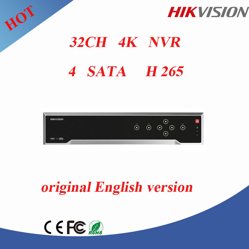 Hikvision 4K 32CH nvr network vedio recorder with 32ch POE cctv nvr support 12MP IP camera