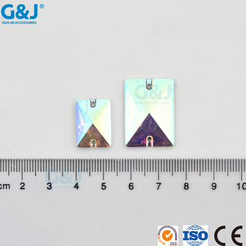 guojie brand produce cheap wholesale point back beautiful color rectangle resin stone