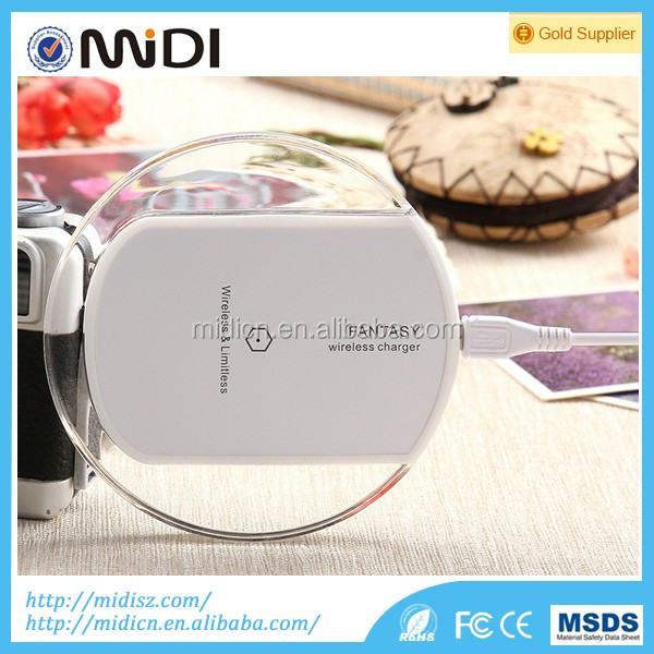 hottest with Mobile Phone Use and Electric Type crystal Wireless charger for samsung S6