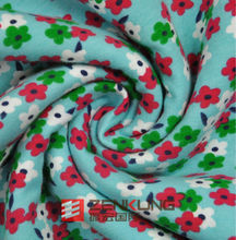 cotton polyester spandex Looped Pile fabric printed patterns flowers fabric