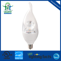 cULus and Energy Star Approved led candle light 5W E12/E14 base