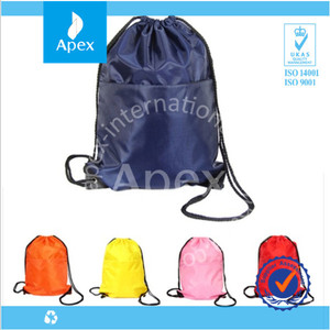 factory customized drawstring backpack sports bag
