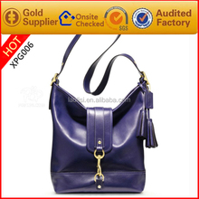 Genuine leather tas import for women