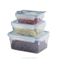 High selling 0.55 liter food container plastic manufacture microwave plastic box bento box container cool lunch box