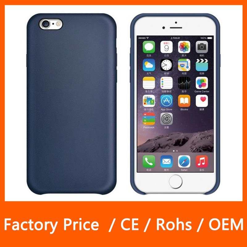 Hot Selling Official PU Leather Protect Cover Back Case for Apple iPhone 6 iPhone 6 Plus