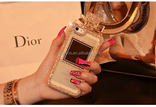 Luxury Bling TPU Mobile Perfume Bottle Case with Diamond for samsung note 3 note 4
