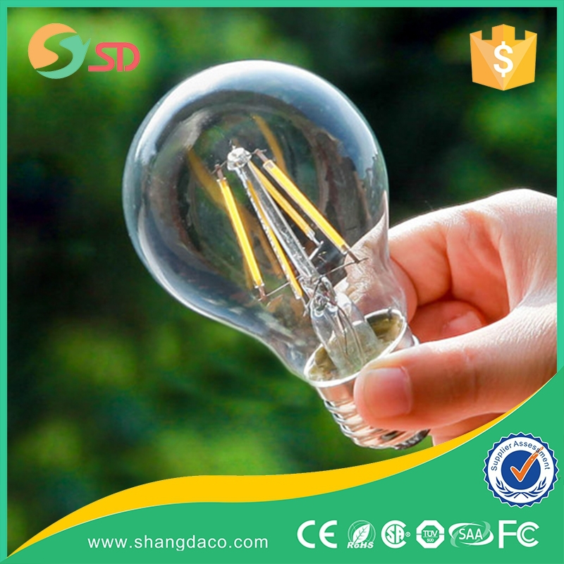 3 Years Warranty High Quality Dimmable 50000 Hours 12-10-8-6-4-2W -E14 E27 E12 E26 B22- A19 A60 G45 C35 T25 CE LED Filament Bulb