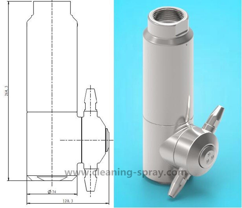 DG20 360 spray 3D rotary tank cleaning device