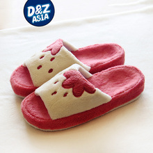 Ladies indoor slippers house shoes slippers plush shoes bear paw slipper