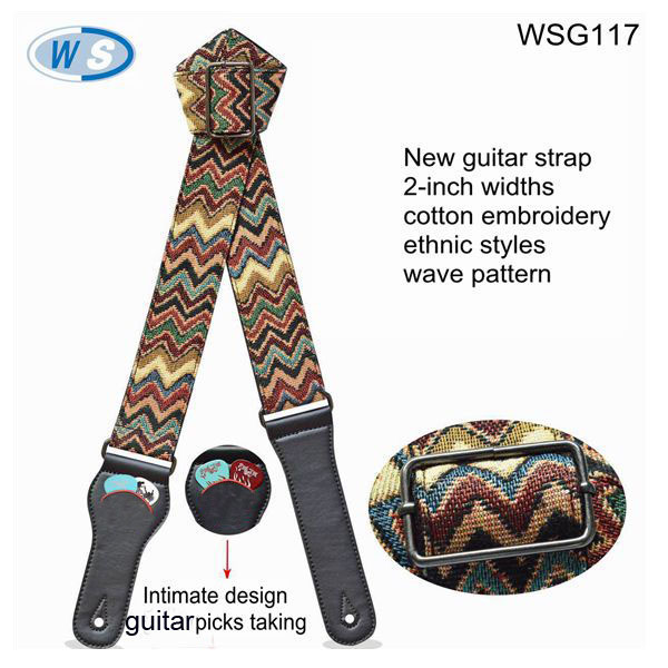 Thick Cotton Jacquard webbing Special Folk Guitar Straps