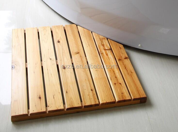 charming tapis de douche en bois 7 relaxdays sortie de douche en bois de bambou salle de bain dessous antidrapant tapis de baignoire caillebotis natte - Caillebotis Salle De Bain Bois