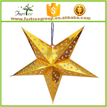 lighted star ceiling cardboard christmas hanging decoration