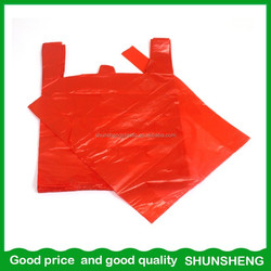 Most Popular best Sell PE custom vest carrier bags t shirt plastic bags