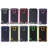 High quality football grain triple layer hybrid phone case for samsung galaxy s5