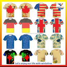 sublimation T shirt O collar 100% polyester fabric quick dry custom made outdoor sportwear
