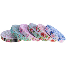 High design floral printed fold over elastic ribbon for hair <strong>ties</strong>