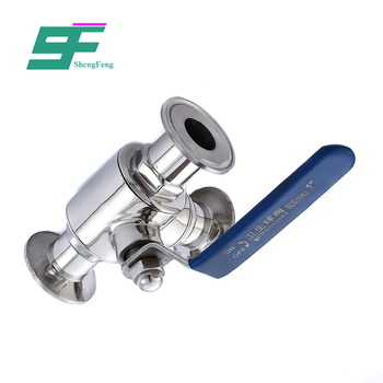Promotional high quality sanitary stainless steel sanitary ball pneumatic valve