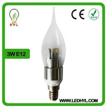 Factory wholesale led candle bulb bent-tip 360 degree view angle camera Christmas decoration lighting