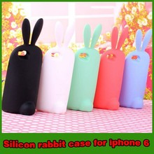 3D Cute rabbit shockproof stand silicon case cover for iphone 6