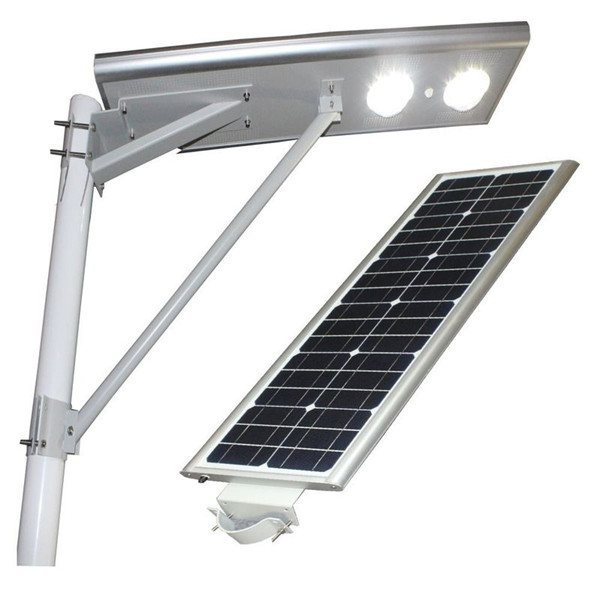 Long life span outdoor lamp led solar street light all in one 80w