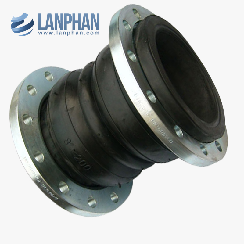 epdm double sphere flanged rubber expansion joint made in china