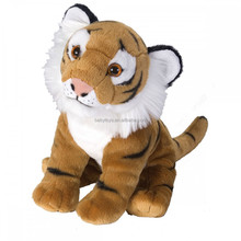 Promotional gifts factory custom stuffed animal toys cuddly sitting plush tiger toy