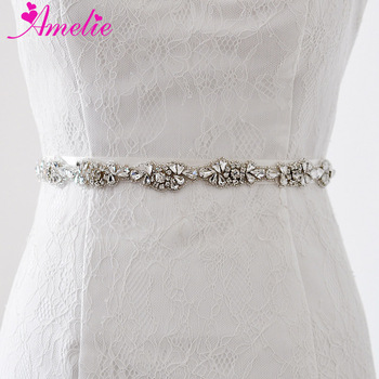 Glinting Crystal Wedding Belt Sash Diamond Applique Prom Fancy Dresses Beaded Rhinestone Women Waistband Anniversary Accessories