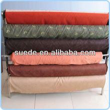 stretch Hot stamping suede Fabric For garment textile