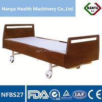 NFBS27 Manual nursing home beds with two functions,health care product, With high density wood Frame Headboard