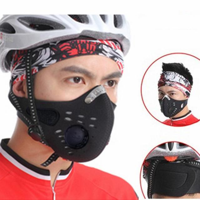 NEW Outdoor Sports Bike Face Mask Filter Air Pollutant for Bicycle Riding Traveling Mouth-muffle Dustproof