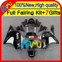7gifts For HONDA Black silver CBR954RR 02-03 CBR900RR 02 03 37CL5 CBR 954RR CBR954 RR 2002 2003 Black silvery CBR 954 RR Fairing