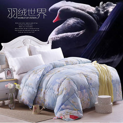 wholesale hotel home printed TTC down proof fabric luxury breathable goose duck down microfiber duvet