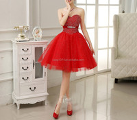 Best Quality Sleeveless Wholesale Girls Elegant short corset prom dress