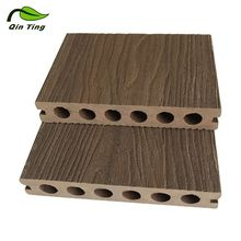 Cheap Construction Landscape Fire Resistance Outdoor Wood Plastic Grooved Composite WPC Hollow Decking