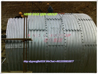 metal scraps two pieces of assemble corrugated pipe