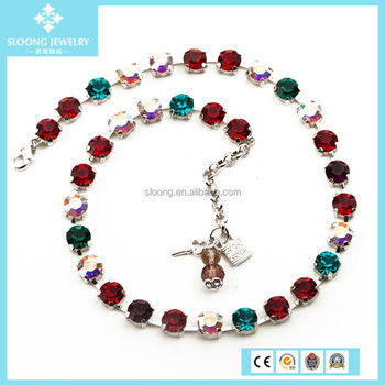 Crystal Designer Inspired Women Statement Necklace